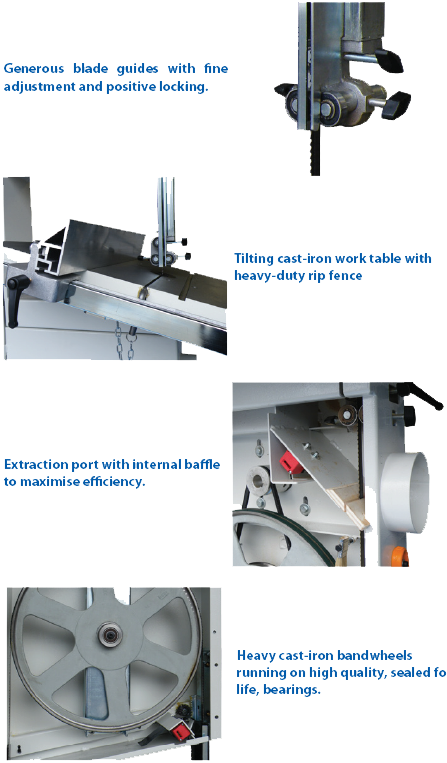 Bandsaw Features