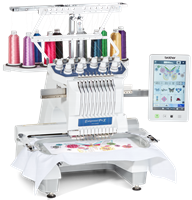 Click to Enlarge - Brother PR1055X 10-Needle Embroidery Machine