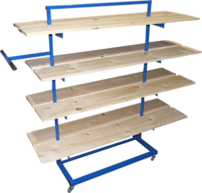 Mobile Ware Stillage Trolley (shown with 8 wareboards sold seperately)