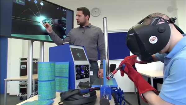 Augmented Reality Welding Simulation System