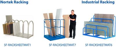 Sheet Material Storage Rack