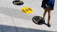 Click to Enlarge - Roland CAMM 1 GR2-Series Application: Floor graphics