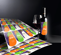 Click to Enlarge - Roland CAMM 1 GR2-Series Application: Print-cut wine labels