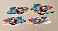 Click to Enlarge - TrueVIS Application: Perforated Stickers