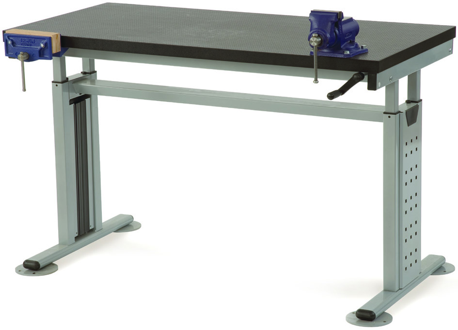 Luxury Work Bench Systems  Adjustable Height  Manual Hydraulic