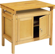 Side Bench with Cupboards