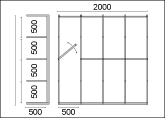 Vertical Storage Racks Drawing