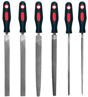 """6 Piece 8"""" Engineers Files Set with Handles"""