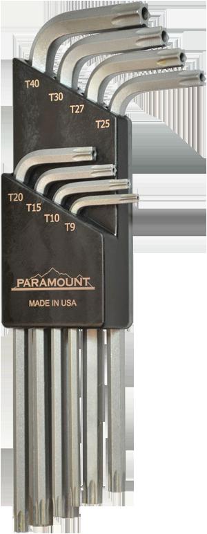 8 Pc T9-T40 TORX Key Set