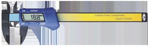"""150mm (6"""") Carbon Fibre Composite Digital Caliper"""