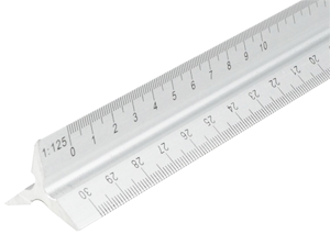 Aluminium Triangle Safety Rule 300mm