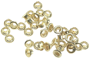 """Brass Eyelets 7/32"""" Pack of 50"""