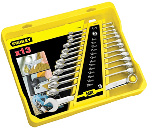 Stanley 13 Pc Metric Combination Spanner Set