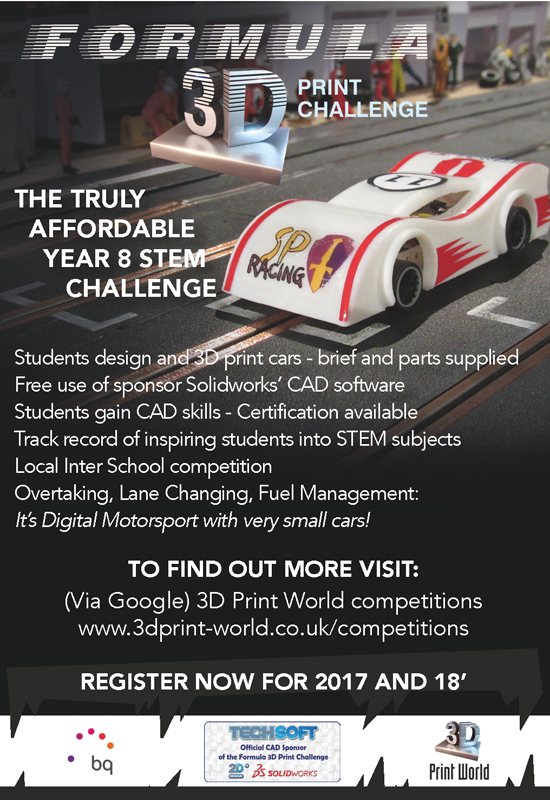TechSoft Sponsors the Formula 3D Print Challenge - TechSoft News