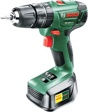 Bosch PSB 1800 Li-2 18V Drill, supplied with 2 batteries