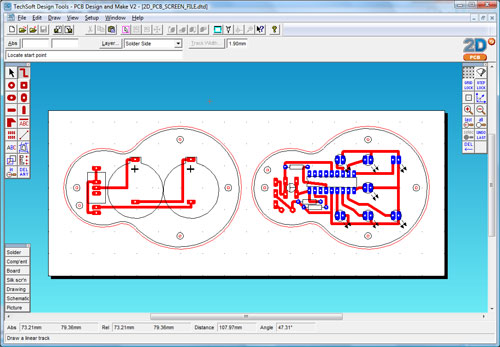 2d pcb v2 for Online 2d drafting software