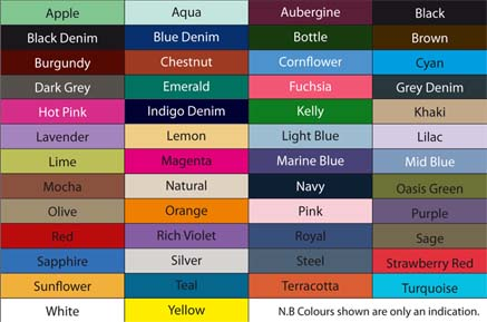Apron Colour Chart