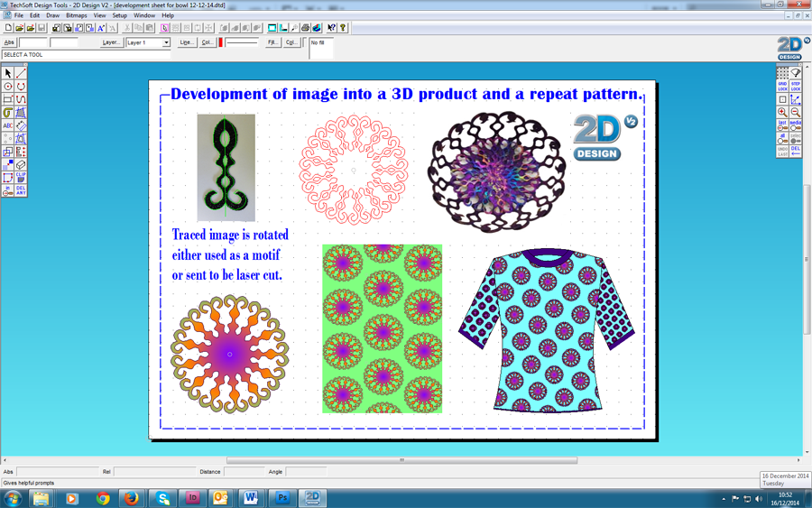 Textiles 2d design v2 for 2d design online