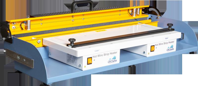 Plastic sheet strip heater