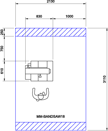 Minimax S400PE CAD Drawing