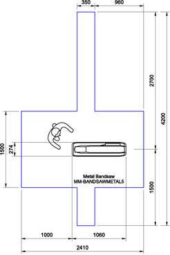 Optimum S131GH Bandsaw CAD Drawing