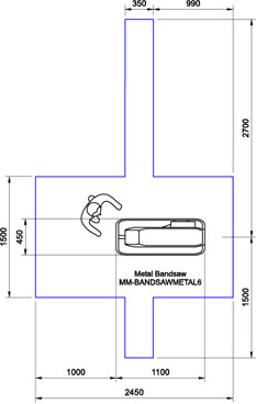 Optimum S181G Bandsaw CAD Drawing